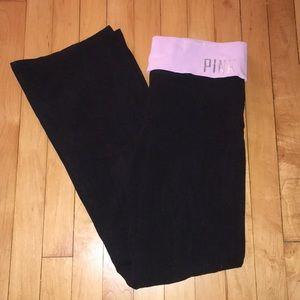 PINK Victoria's Secret Large Black yoga pants